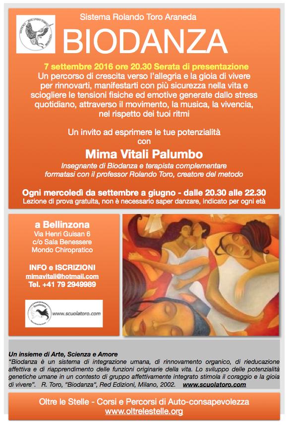 volantino serata presentazione biodanza 7.9.2016